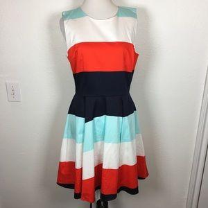 Bright striped sun dress